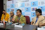 Odia feature film Sala Budha (The Stupid Old Man) crew including director Sabyasachi Mahapatra, actors Atal Panda and Pritviraj Nayak and editor  Rajendra K. Mahapatra meet the press at the IFFI 2013
